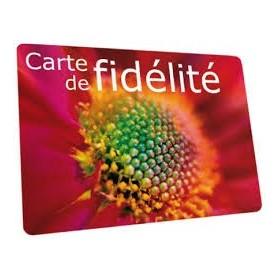 2000 cartes de fidélité